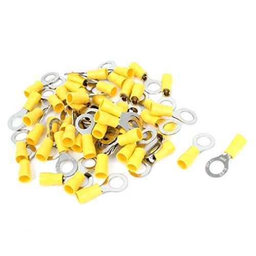 Aexit 50 Stücke RVS5.5-8 AWG 12-10 Kabel Elektrische Verdrahtung Isolierring Crimpverbinder Gelb Silber Ton (28579deb5a5371ae8ec00c52aa917b7c)