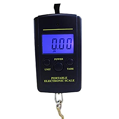 JuneJour Portable Mini Electronic Digital Scale Hanging Fishing Hook Pocket Weighing with Backlit LCD Display 0.01lb x 88lb/0.005kg x 40kg by starsday