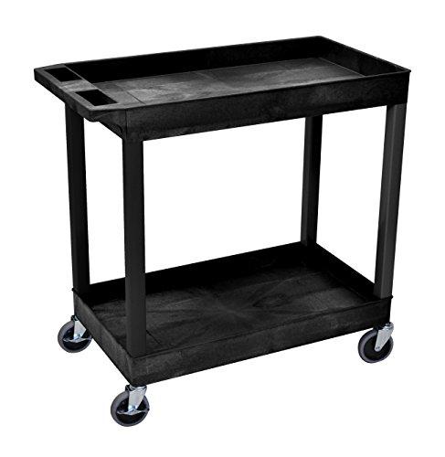 Preisvergleich Produktbild Luxor 81,3x 45,7cm Badewanne Storage Cart 2Einlegeböden–Schwarz