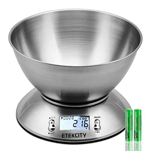 Su personal Sous-ChefCon una capacidad de hasta 11 lbs(5kg), la báscula puede servir de su ayudante de cocina. Los sensores garantizan la alta medición precisa cada vez con una graduación baja de 0,1oz(1g).MultifunciónLlegar a la mesa de la cena más ...