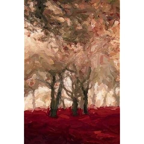 Forest Floor Crimson A3 dal Greene, Taylor-Stampa su tela in