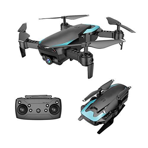 AHangcc Drone Folding Quadcopter mit Einstellbarer 420P HD-Weitwinkelkamera, Langstrecken-Outdoor-Drohne für die Position des optischen Flusses, langlebige modulare Batterie,Black