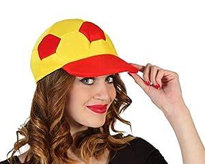 Atosa-24187 Atosa-24187-Gorra Balon España Diámetro 9 cm-Mundial De Fútbol Y Deportes, Color Rojo y Amarillo (24187)
