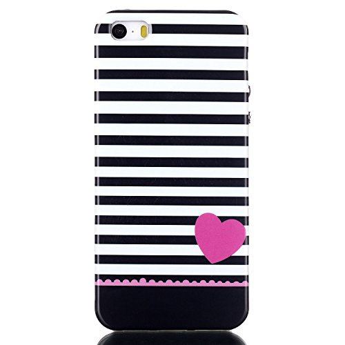 MOONCASE Etui pour Apple iPhone 5G / 5S Silicone Gel TPU Housse Coque Case Cover XS10 XS01 #0302