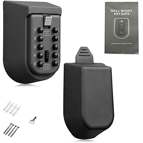 Digital Schloss Lock Box Wandhalterung sicheren Aufbewahrung Schlüssel Push Button Kombination für Realtor Home Eigentümer Family memembers oder Außeneinsatz (Schlüssel, Für Wandhalterung Lock-box)