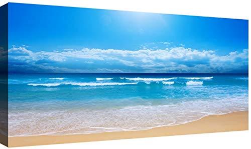 canvashop - quadri moderni cm 120x60 mare 26 stampa su tela canvas quadro moderno xxl sole tramonti estate arredo casa