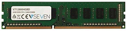 V7 V7128004GBD Desktop DDR3 DIMM Arbeitsspeicher 4GB (1600MHZ, CL11, PC3-12800, 240 polig, 1.5 Volt)