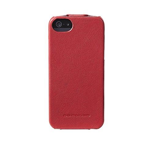 DECODED Flip Case en Cuir pour iPhone SE Marron Rouge