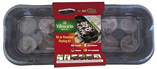 Vilmorin 3990626 Mini Kit de Serre Souple + 10 Pastilles Fibre de Coco Tout-en-Un