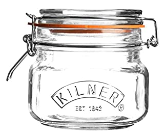 Kilner Preserving Jar for Jam, with Square Base and Mechanic Cap Clip, Capacity: 0.5litres (B00DS2WFWI) | Amazon price tracker / tracking, Amazon price history charts, Amazon price watches, Amazon price drop alerts
