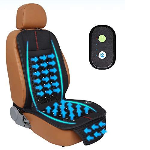 NCBH Car 12V Cooling Seat, Sitzauflage - Klimaanlage Sitzkissen Steißbein & Ischias Schmerzlinderung - Verbessert die Körperhaltung - Waschbarer Bezug - Seat Klimaanlage