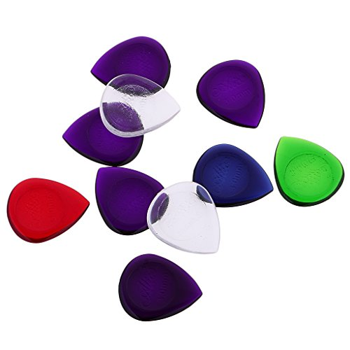 sharplace 10PIECES/Set zufällige Farben Elektro-Akustische Bass Gitarre Picks Plektrum Musikinstrument Teile 3mm