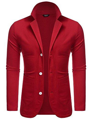 bridene - Veste de costume - Homme - Rouge - XXL
