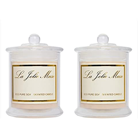 Jasmine Essential Oils and Plumeria Christmas Scented Candles Sets In Glass Pack of Two Church Wedding Home Decor Candle