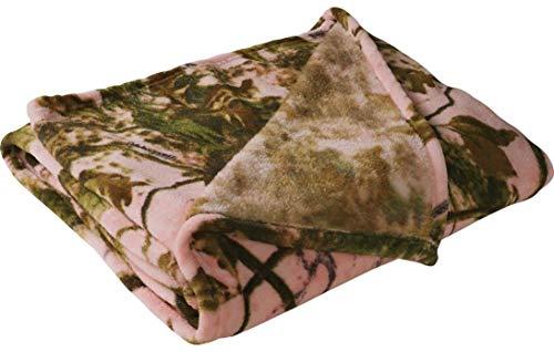 Tagesdecke, Fleece, Camouflage, warm, Korallenmuster, 127 x 152 cm, Grün Large Rose Cabelas Fleece