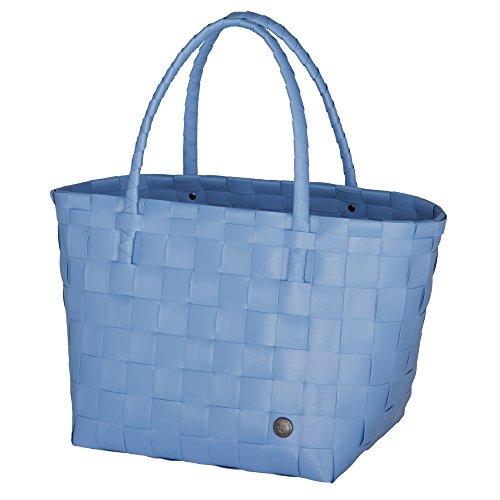 Unek Goods Handed By Paris Woven Reusable Shopping Tote Bag, Dusk Blue