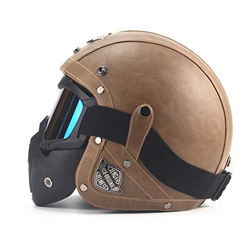 CARACHOME Helm Regenschutz, Quad Helm mit Maske,Motorrad Helm für Männer und Frauen. geeignet für Scooter Bike CS Spiel Motorrad,L(59to60cm)