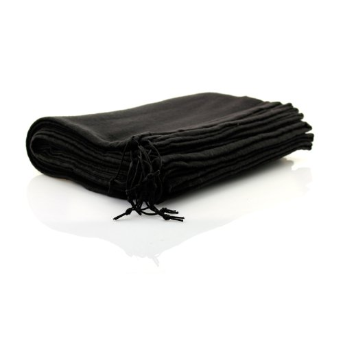 TelMo 10 Stück Schuhbeutel aus Baumwolle mit Zugband 40x30cm SCHWARZ