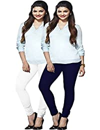 Lux Lyra Women`s Combo Indian Churidar Leggings Pack Of 2