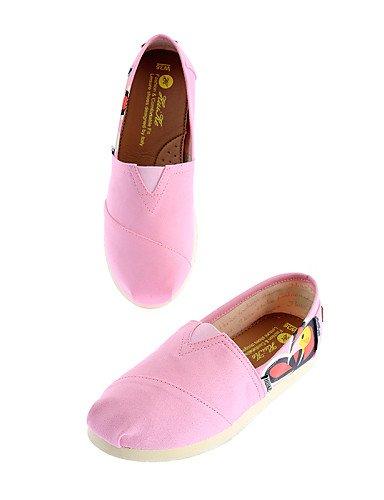 ZQ gyht Scarpe Donna-Mocassini-Ufficio e lavoro / Casual-Comoda / Punta arrotondata-Piatto-Di corda-Giallo / Rosa / Rosso / Royal Blue , pink-us8 / eu39 / uk6 / cn39 , pink-us8 / eu39 / uk6 / cn39 yellow-us8 / eu39 / uk6 / cn39