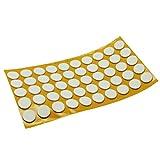 50 x Antirutsch Pads aus EPDM / Zellkautschuk | rund | Ø 20 mm | Weiß | selbstklebend | Rutschhemmende Pads inTop-Qualität (2.5 mm)