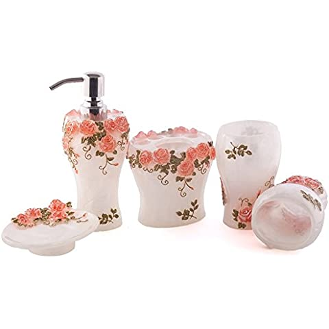 La resina 5 Bagno Infissi Prodotti da bagno Vanity Cup Kit continentale