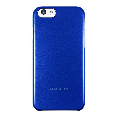 Macally SNAPP6M-BL Metallic-Snap-on Schutzhülle für iPhone 6s und iPhone 6 (4.7