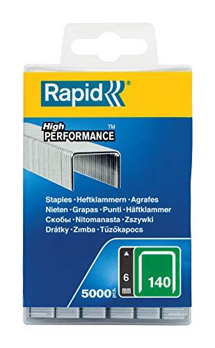 Rapid, 40303088, Agrafes N°140, Longueur 6mm, 5000 pièces, Pour...