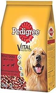 Pedigree Beef & Vegetables, Dry Dog Food (Adult),