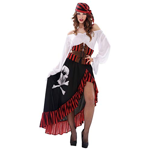 My Other Me Me-203657 Disfraz de pirata bandana para mujer, S (Viving Costumes 203657