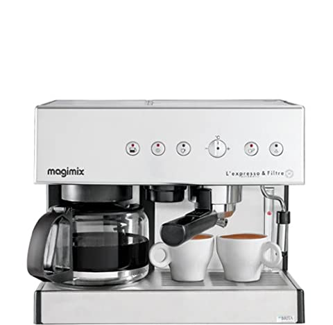 Magimix 11407Coffee Maker–Coffee Makers (vasques, combi Coffee Maker, GROUND Coffee, chrome, exprimé)