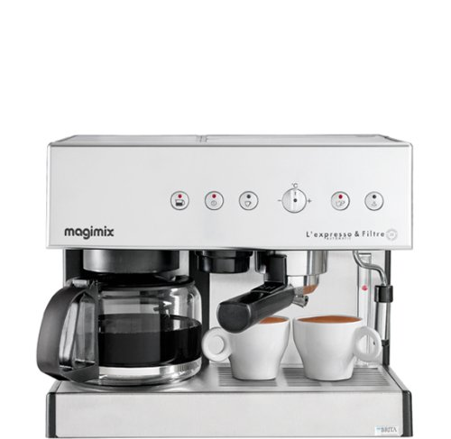 Magimix 11423 Espresso & Filtre Automatic Espressomaschine, 1.4 liters, Chrom