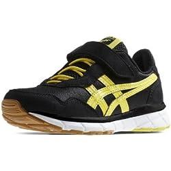 Asics - Zapatillas de deporte de cuero para niño negro negro 33