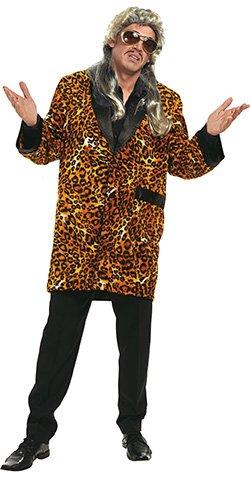 Leoparden Jacke braun-schwarz für Herren | Größe 50 | 1-teiliges Macho Kostüm | Faschingskostüm für Männer | Tiger Jacke für Karneval (Tiger Kostüm Männer)