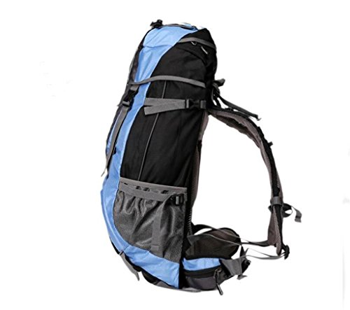 BERGSTEIGEN Tasche groß Kapazität Reisetasche Männer und Frauen Schultertasche Outdoor Equipment, Wandern Camping 50l60l Rot