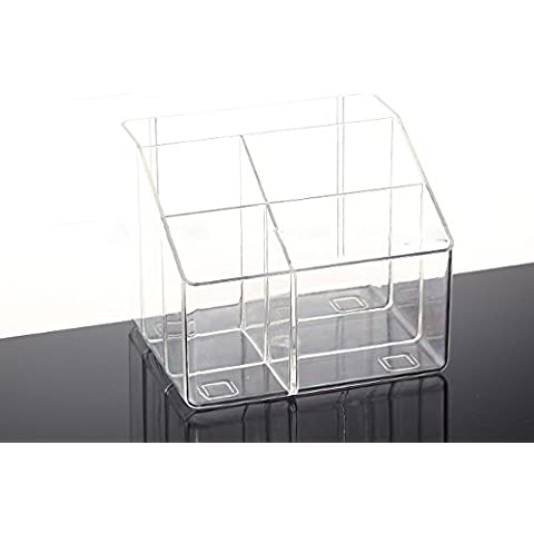 restos de escritorio mando a distancia caja creativa almacenamiento en el hogar transparente receptáculo cuadro de clasificación