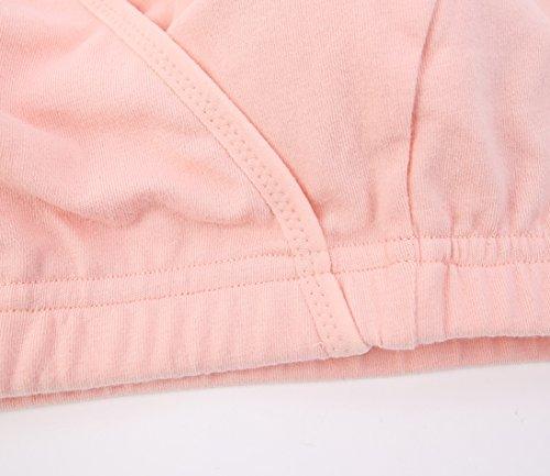 ZUMIY® Femme Coton Soutien-gorge de Maternité d'allaitement Nursing Bra 2 Pack Black+Orange pink