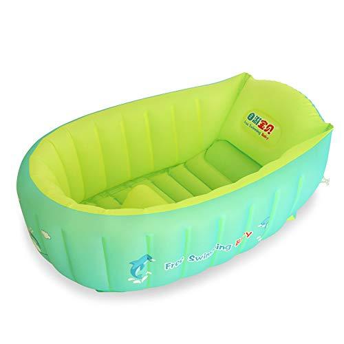 Bañera Suave Para Bebés, Piscina Antideslizante Inflable...