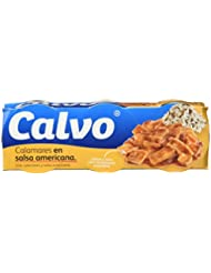 Calvo Calamares en Salsa Americana - Paquete de 3 x 80 g - Total: 240