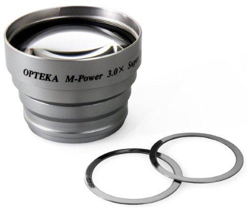 Opteka 3x Telephoto Converter Magnetic Magnet Lens For Canon Powershot A10 A20 A30 A40 A60 A60 A70 A75 A80 A80 Power Plus A85 A95 A400 A520 Sd700 Sd800 A710 A640 A630 A620 A610 A540 A530 A520 A510 A560 A570 A580 A590 A600 Sd890 Sd950 Sd900 / Ixus 900 Ti S