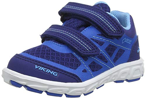Viking Unisex-Kinder Veme Vel GTX Cross-Trainer, Blau (Dark Blue 7635), 35 EU