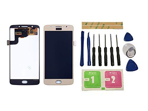 Flügel per Motorola Moto E4 E (4th Gen) XT1766 XT1767 XT1763 XT1762 Schermo Display LCD Display Oro Touch Screen Digitizer (Senza Frame) di Ricambio e Strumenti Gratuiti