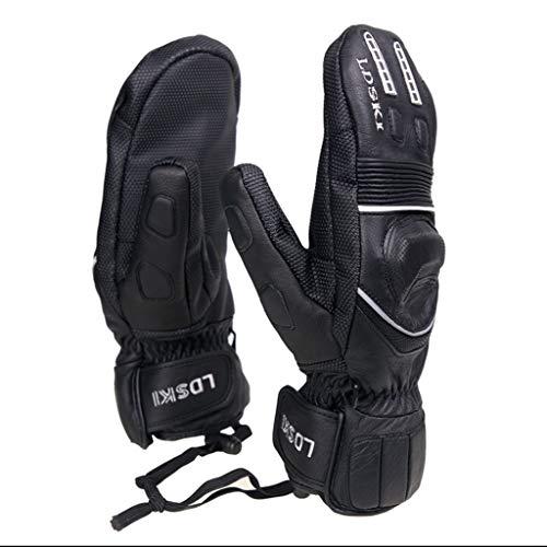 Ski Handschuhe volle Handfläche Kevlar Abriebfeste Wasserdichte DREI-Finger-Ski-Ausrüstung (größe : M) -