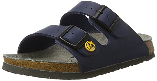 Birkenstock 89430-39-normales Fußsbett ESD Berufsschuh ARIZONA Antistatik Birko-Flor BLAU Gr. 39 - normales Fußbett, EU (Birkenstock Einlegesohlen Blau)