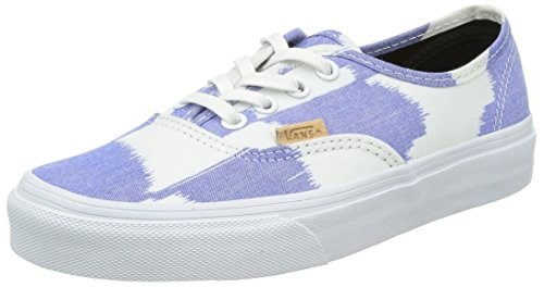 VANS - Herren- Authentic California Glitch Check in Blau und Weiß für herren, Blau, 40.5 EU / 7 UK / 8 US (Vans Authentic-california)