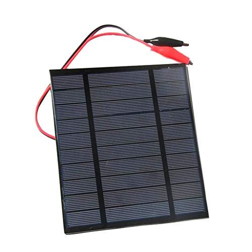 035bcba5aba51 D DOLITY 2.5W 5V Cargador Panel Solar Placa Solar con Cable Adaptador de  Pinza de