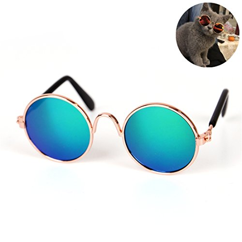 Zsypet Pet UV Schutzbrille Cat Sonnenbrille Wasserdicht - Cat Clothes Photographic Supplies, green