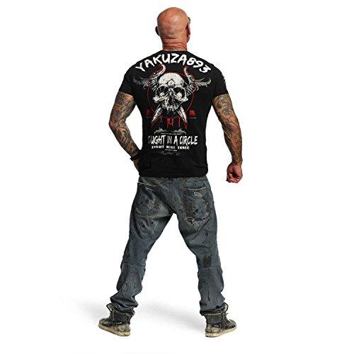 Yakuza Original Herren Caught In A Circle T-Shirt Schwarz
