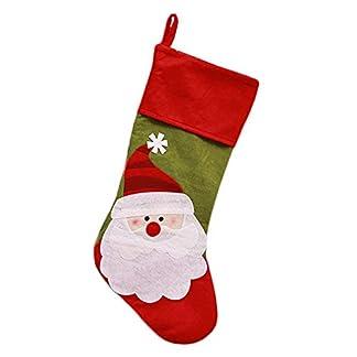 Hosaire 1x Bolsa de Caramelo Calcetines de Navidad Tema Colgante Decoración de Navidad empaqueta de DIY de Fiesta para Regalos de Niños Size 48 * 20cm (Style2)