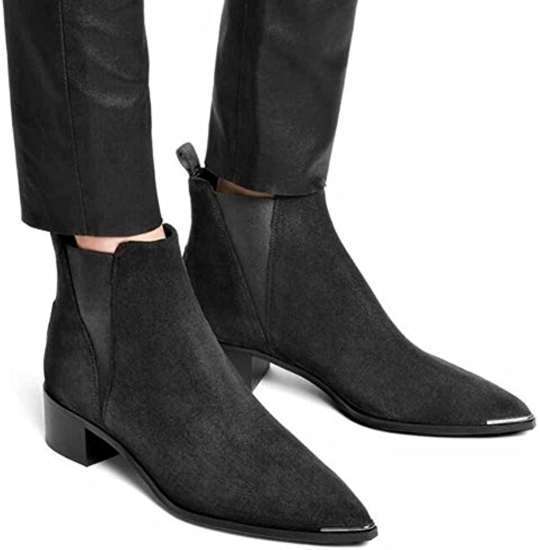 GLTER Scarpe da donna in pelle nera nera nera a punta da donna 2017 Autunno Nero Scarpe in pelle nera ( Coloree   nero 3... | A Prezzo Ridotto  | Uomo/Donna Scarpa  b86807